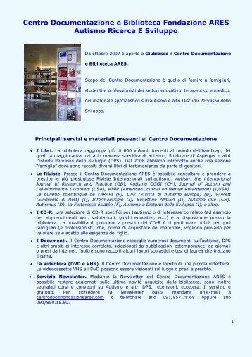 Centro Documentazione e Biblioteca Fondazione ARES Autismo ...