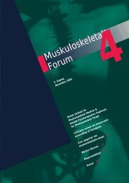 Muskuloskeletalt Forum - 4/2005 (pdf) - Fagforum for ...