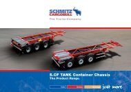 S.CF TANK Container Chassis - Schmitz Cargobull AG