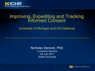 Improving, Expediting and Tracking Informed Consent - University of ...