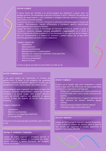 centro diurno per persone con autismo - ANGSA Lombardia ONLUS