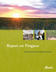 Report on Progress - Agriculture and Rural Development ...