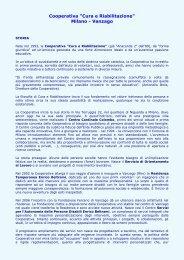 Cura e Riabilitazione - ANGSA Lombardia ONLUS