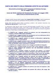 carta dei diritti delle persone affette da autismo - ANGSA Lombardia ...