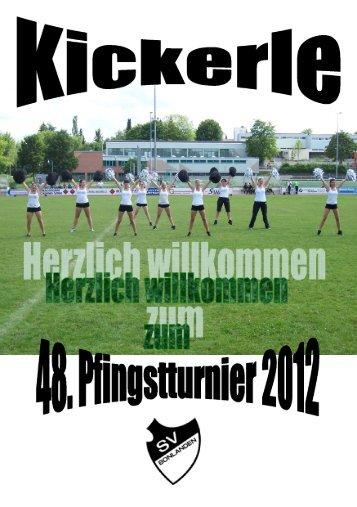 Turnierplan Pfingstturnier 2012 mit Ergebnissen - SV Bonlanden