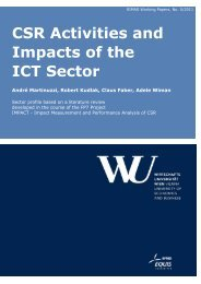 CSR Activities and Impacts of the ICT Sector - Research Institute for ...