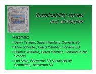 Sustainability stories and strategies Sustainability stories and ...
