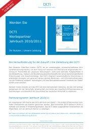 Werden Sie DCTI Werbepartner Jahrbuch 2010/2011