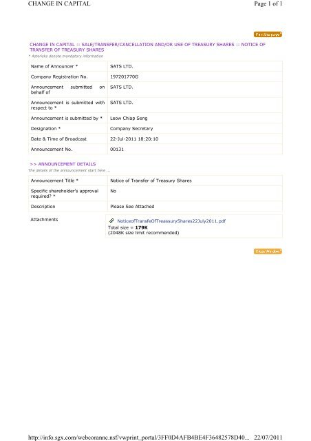 registration of transfer of shares
