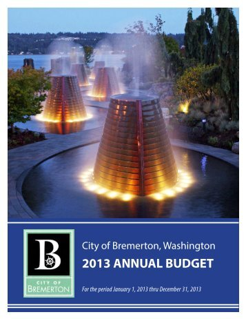 2013 Annual Budget - City of Bremerton