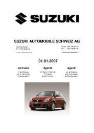 SUZUKI AUTOMOBILE SCHWEIZ AG 01.01.2007
