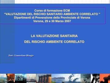 Presentazione Verona 2007 - Dipartimento di Prevenzione Ulss 20 ...