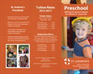 Preschool Brochure_20122013 - St. Andrews Presbyterian Church