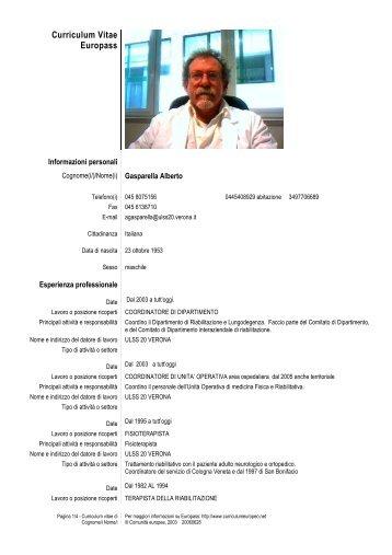 Gasparella Alberto - ULSS 20 Verona
