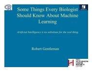 Machine Learning - Bioconductor