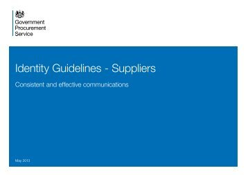 Identity Guidelines - Suppliers - Government Procurement Service