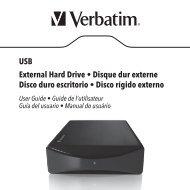 USB External Hard Drive • Disque dur externe Disco duro ... - Verbatim