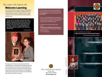 Oratorical Brochure - American Legion