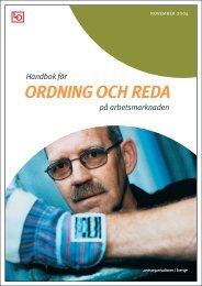 Handbok för ordning och reda - Handelsanställdas förbund