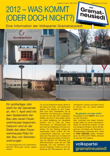2012 – was kommt (oder doch nicht?) - Gramatneusiedl ...