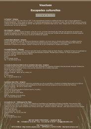 Pour en savoir plus, cliquez ici (Lien PDF) - art de vivre provence