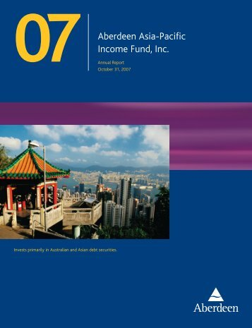 Aberdeen Asia-Pacific Income Fund, Inc. - Aberdeen Asset ...