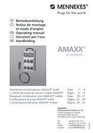  Betriebsanleitung  Notice de montage et mode d ... - Mennekes