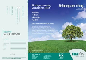 PDF-Veranstaltungsflyer - GRÜN Software AG