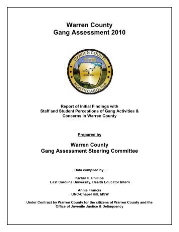 youth gang assessment Information about the gang violence  (office of youth violence  the progress and achievements of the community peace collaborative will be a result of our.