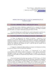 Pliego Clausulas Administrativas Particulares Reforma y Ampliación ...