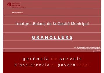 Imatge i Balanç de la Gestió Municipal a Granollers - Pla Estratègic ...