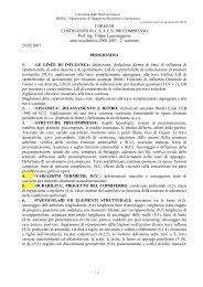 programma - Ingegneria strutturale e geotecnica - Università degli ...