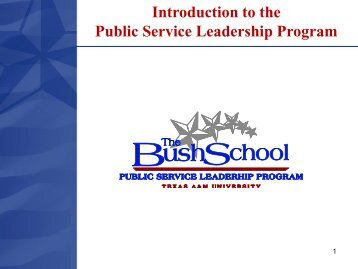 Program Overview Brief - Bush School of Government and Public ...