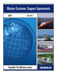 Marine Customer Support Agreements - Marine Engines Caterpillar