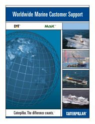 Worldwide Marine Customer Support - Marine Engines Caterpillar