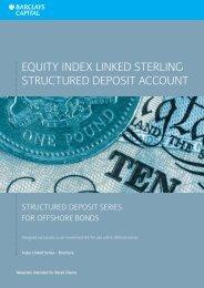 CS1101091 V03 Equity Index Linked Sterling ... - Adviserzone