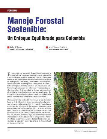 Manejo Forestal Sostenible: - Revista El Mueble y La Madera