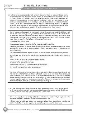 leng egb3-act 18 - Escritorio de Educación Rural - Educ.ar