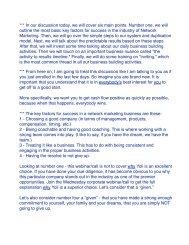 Training Script Short - Yoli