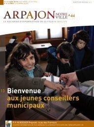 Bienvenue aux jeunes conseillers municipaux - Arpajon