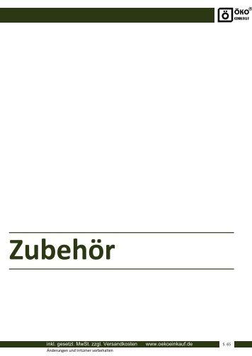 inkl. gesetzl. MwSt. zzgl. Versandkosten www.oekoeinkauf.de