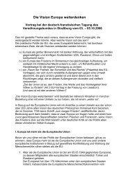 Die Vision Europa weiterdenken - Internationaler Versöhnungsbund