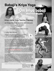 Download pdf program - Babaji's Kriya Yoga