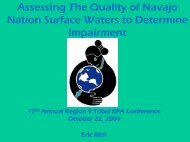 Assessing The Quality of Navajo Nation Surface Waters to ...