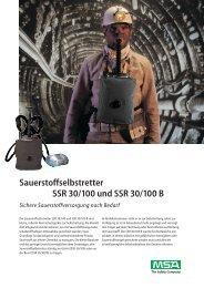 Sauerstoffselbstretter SSR 30/100 und SSR 30/100 B Sichere ...