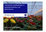 Technische ontwikkelingen in waterbehandeling in de glastuinbouw
