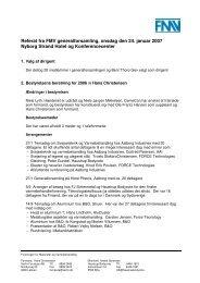 Referat fra FMV generalforsamling, onsdag den 24. januar 2007 ...