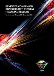 Reviewed condenced consolidated interim ... - Investor relations