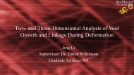 Two- and Three-Dimensional Analysis of Void ... - Course Notes