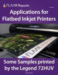 Applications for Flatbed Inkjet Printers Some Samples printed by the ...